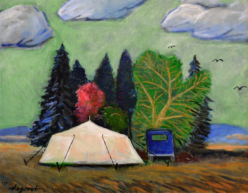 Camping   16″x20″