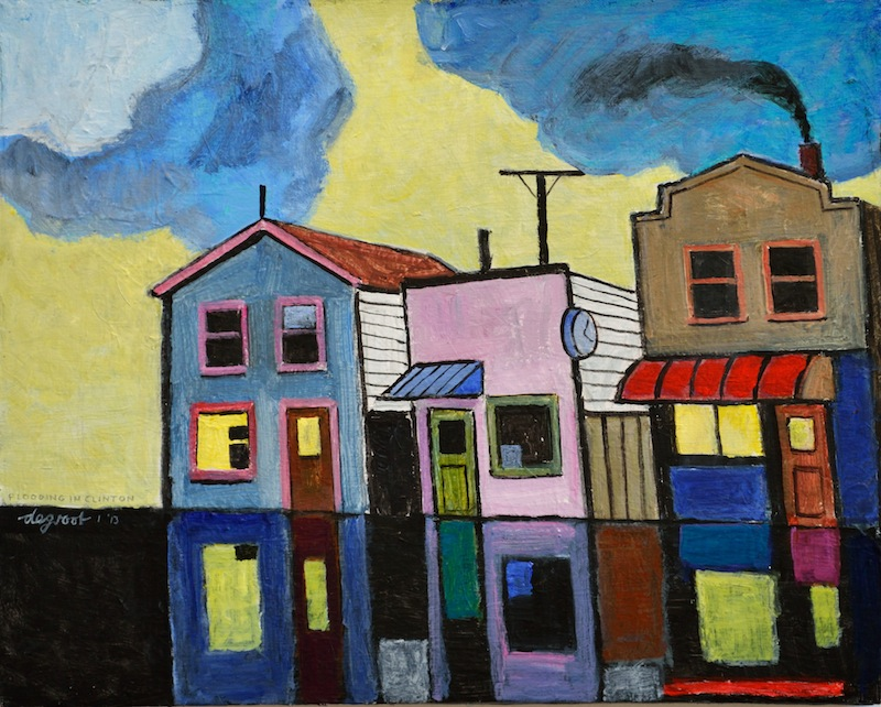 Flooding in Clinton  16″x20″