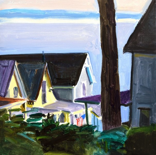 Early Morning Cottages  12″x12″